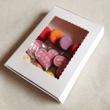 "White Cookie Boxes - 10"" X 7"" X 1 1/4"" ($2.10 x 25 sets)"