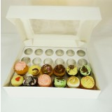 25 sets of  Window Cupcake Box + 24 Cupcake Holder($3.90 each set)