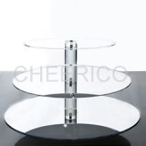 3 Tier Maypole Mirrored Effect Cupcake Stand